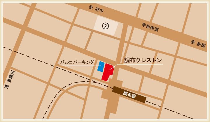 パルコパーキングの地図