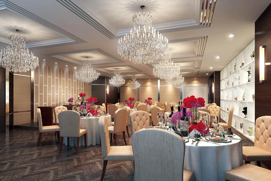 名古屋クレストンホテル宴会場「パレット」の華やかな正餐スタイル