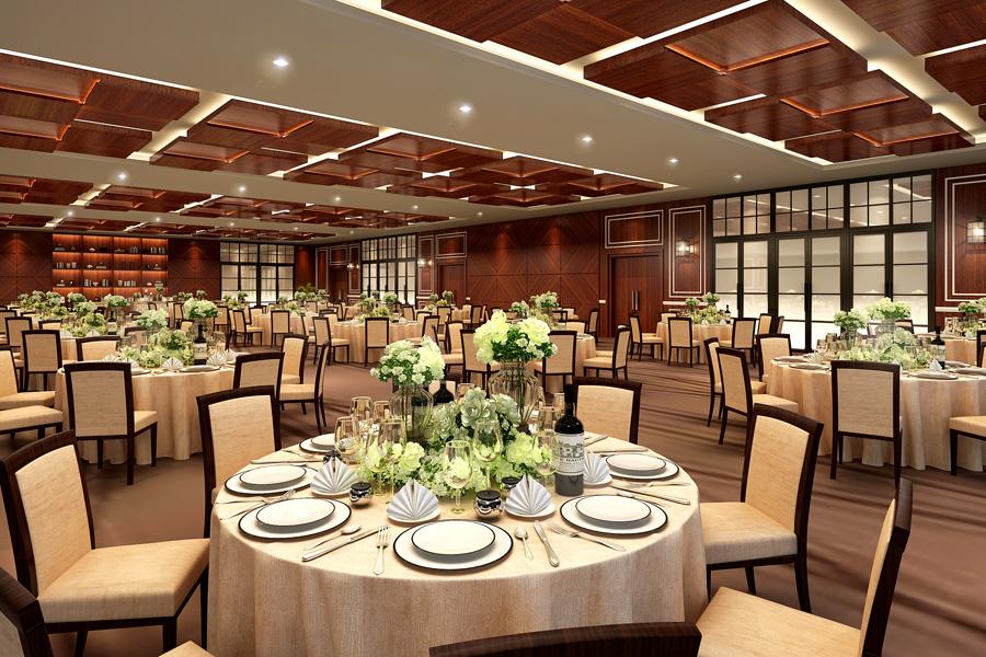 名古屋クレストンホテル宴会場「ザ・バンケット」の祝賀パーティーなど正餐形式