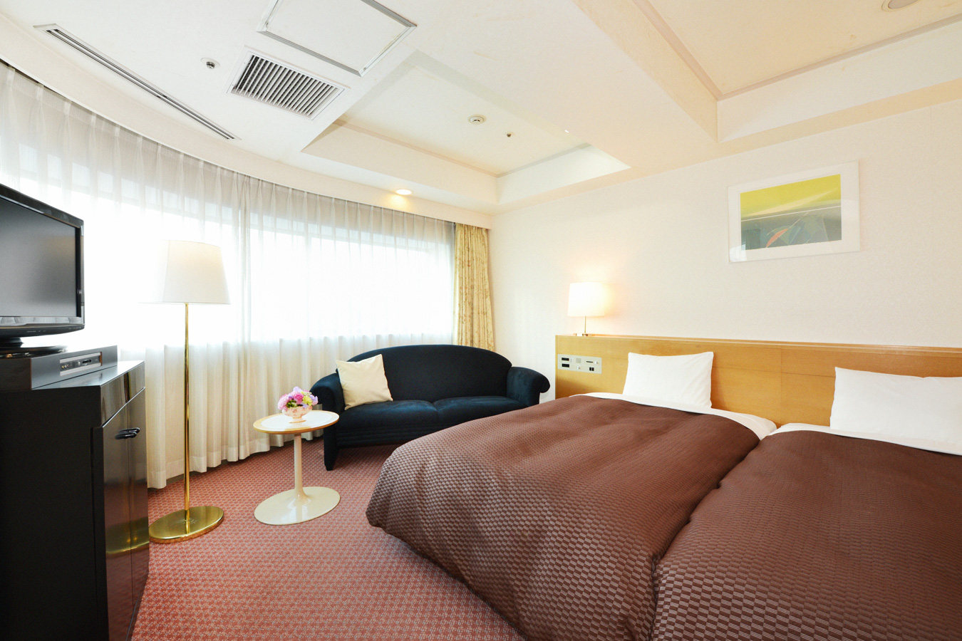 名古屋クレストンホテルの客室 コーナーツイン
